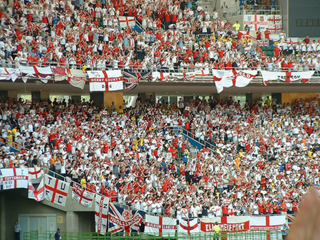 England fans travel to major tournaments in greater numbers than any other nation